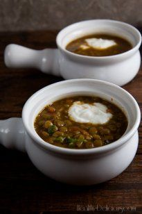 Roasted Eggplant and Lentil Soup - Healthy. Delicious.