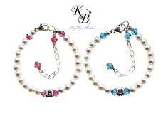 Personalized Baby Bracelet, Birthstone Bracelet, Baby Shower Gift, Baby Jewelry, Keepsake Bracelet, Birthstone Jewelry, New Baby Gift | KyKy's Bridal, Handmade Bridal Jewelry, Wedding Jewelry