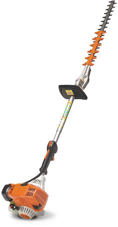 The stihl fs 240 r professional trimmer combines a heavy duty design the stihl hl 90 k extended reach hedge trimmer features a fixed angle cutting blade greentooth Gallery