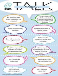 Conversation Starters  Marriage Talk