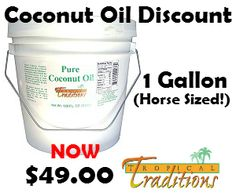 """If you've read my post Coconut Oil for Horses - Top 10 Uses you already know I love using coconut oil for my whole family, including feeding coconut oil to horses. But one question I get all the time is """"doesn't it cost a fortune?"""" and it certainly could, but the good news is it doesn't have to!"""