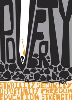 """""""Poverty"""" poster, Mary Anne Pennington, 2011"""