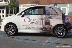 Clever Closets Fiat 500 Vehicle Wrapped By Steel Skinz Graphics www.steelskinz.com