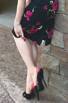 454545441e #Throwback to the gorgeous Miss Vintage Lady wearing a pair of our Red  Glamour Seamed