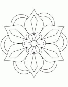 Simple Mandala Flower Coloring Pages. 30 Simple Mandala Flower Coloring Pages. Easy Flower Mandala Coloring Pages at Getdrawings Rangoli Designs, Rangoli Patterns, Mosaic Patterns, Embroidery Patterns, Quilt Patterns, Pattern Coloring Pages, Flower Coloring Pages, Mandala Coloring Pages, Printable Coloring Pages