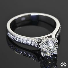 Pave Engagement Ring Mountings | Pave Engagement Rings and Wedding Bands - Pave'd in Diamonds