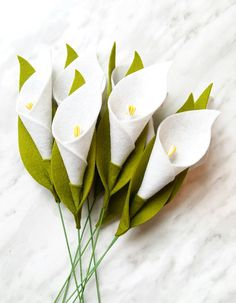 DIY Felt Flower Tutorial - Free Calla Lily Pattern