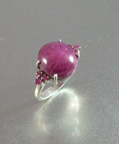 Vintage Sterling Star Ruby Ring Size 7.5 by LynnHislopJewels