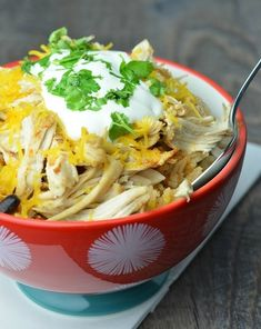 Instant Pot Chicken Taco Bowls Ready to Eat
