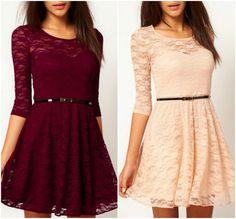 Beautiful A Line Long Sleeve Lace Dress AD08