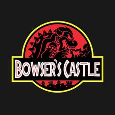 BOWSER'S JURASSIC CASTLE T-Shirt $12.99 Super Mario Bros tee at Pop Up Tee!