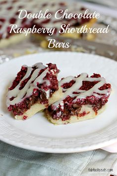 Double Chocolate Raspberry Shortbread Bars | Fabtastic Eats