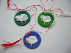 martisoare – Page 2 – Martisoare handmade Baba Marta, Kids Education, Diy And Crafts, Polymer Clay, Crochet Earrings, Handmade Jewelry, Christmas Ornaments, Holiday Decor, Blog