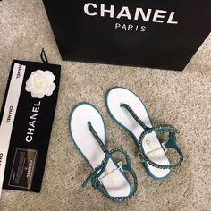Chanel Brand, Chanel Paris, Woman Shoes, Chanel Shoes, Leather Chain, Stuart Weitzman, Leather Sandals, Heels, Women