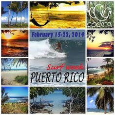 'COSTA CON AVENTURA SURF WEEK'  FEB 15-22, 2014 For EVERYONE that knows how to #SURF and want something EXTRA!  => $999 / 730€ <=   7 nights accommodation in our Casa Aventura including:  - Daily surftrips to breaks around the island. - Snacks and refreshments on trips. - Waterfall tour to Rainforest El Yunque. - Daily meditation. - 3 stretching classes. - 2 salsa nights / class.  ** For Girls who book through COSTA bikinis a free bikini and shoot!  Book your spot: info@costabikinis.com