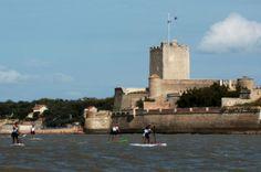 Epreuve de Stand-up paddle du Fort Boyard Challenge #Sport #Nautisme #Fouras #Fort Vauban #RochefortOcean Charente Maritime Poitou Charentes