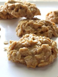 Super easy, no-bake cookies with chewy oatmeal and all the Cookie Butter flavor you could ever want.