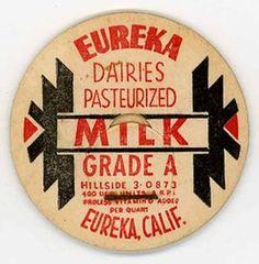 Eureka Dairies Eureka CA Grade A Milk Milk Bottle Cap | eBay