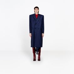 BALENCIAGA BOXY COAT | Masculine coat with couture exclusive should pad construction