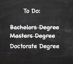 Work in Progress - Doctorate Degree
