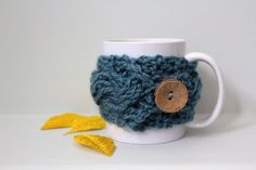 Hey, I found this really awesome Etsy listing at https://www.etsy.com/listing/129308037/blue-cup-cozyblue-mug-cozywood-button