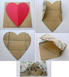 How to make a HEART envelope.