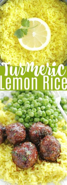 Turmeric Lemon Rice | Foodtastic Mom