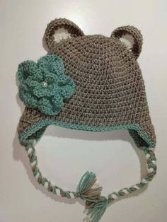 Flower Hat Crochet Hat Crochet Flower Hat Toddler Hat Kid
