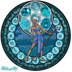 My version of the Kingdom Hearts Stained Glass Windows - This time with Princess Kida from Atlantis! I also plan on trying to do Eilonwy from the Black Cauldron as she is another 'forgotten disney princess'. Disney Animation, Disney Pixar, Kida Disney, Walt Disney, Disney Fan Art, Princesas Disney, Disney And Dreamworks, Disney Style, Disney Love