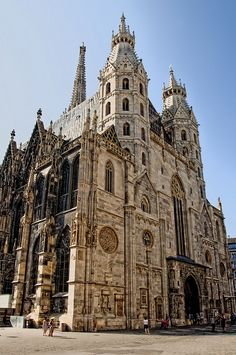 Domkirche St. Stephan, Vienna, Austria This is where Mozart's funeral was held.