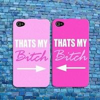 Funny BFF Best Friend Pink Cute Rubber Cell Phone Case Cover iPhone 4 4s 5 5s 5c