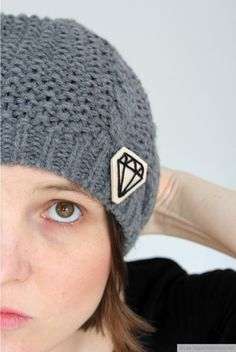 DIY Balsa Wood Diamond Brooch