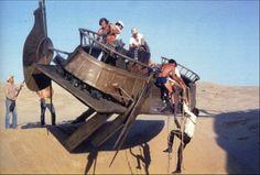 Behind the Scenes desert skiff
