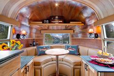 Timeless Travel Trailers restored this 1954 Flying Cloud Airstream for Orvis and it is in mint condition.