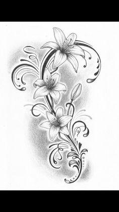50 arm floral tattoo designs for women 2019 – page 19 of 50 – new ideas Asiatische tattoos - flower tattoos designs Lily Tattoo Design, Floral Tattoo Design, Flower Tattoo Designs, Tattoo Designs For Women, Tattoo Women, Stencils Tatuagem, Tatuagem Diy, Tattoo Stencils, Vine Tattoos