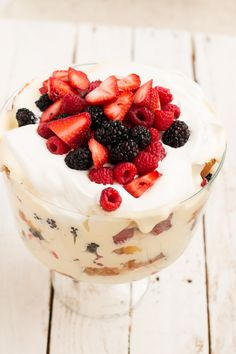 Lemon Curd Berry Trifle - Oh Sweet Basil