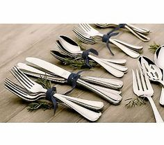 A rustic-chic idea for entertaining.     {Shown: Lenox 18/10 Stainless Steel 101-Piece Service for 12 Flatware Set}