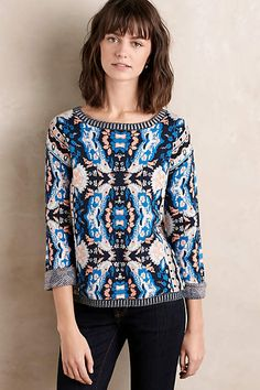 Anthropologie EU Novella Jacquard Pullover. Moth relies on simple yarns and pure shapes to make a statement, and in turn appeals to women who want a feminine look without any fussiness.