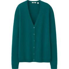 WOMEN EXTRA FINE MERINO V NECK CARDIGAN ❤ liked on Polyvore featuring tops, cardigans, merino wool cardigan, blue top, uniqlo cardigan, cardigan top and merino cardigan