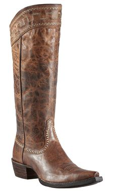 Ariat® Sahara™ Women's Sassy Brown Snip Toe Tall Cowboy Boots- for Nashville Cute Boots, Tall Boots, Black Boots, Western Wear, Western Boots, Western Chic, Crazy Shoes, Me Too Shoes, Cowgirl Boots