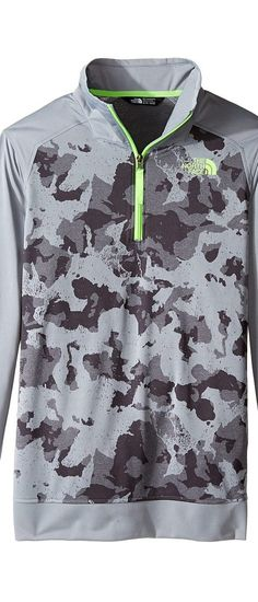 The North Face Kids Kickin It 1/4 Zip (Little Kids/Big Kids) (Mid Grey Animal Camo Jacquard) Boy's Sweatshirt - The North Face Kids, Kickin It 1/4 Zip (Little Kids/Big Kids), NF0A2U4AQWK, Apparel Top Sweatshirt, Sweatshirt, Top, Apparel, Clothes Clothing, Gift, - Street Fashion And Style Ideas