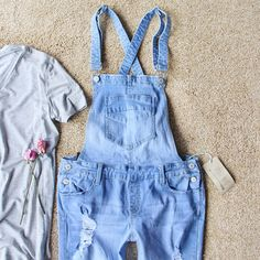 Sweet Tea Overalls - Tailored design for a non-bulky fit, these overalls are perfect paired with a tee for spring & summer. www.spool72.com
