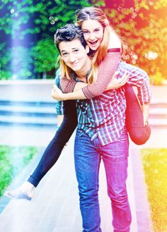Shailene Woodley  and Miles Teller