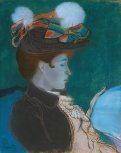 Louis Anquetin- Girl Reading a Newspaper, 1890