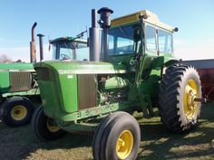 175hp JOhn Deere 6030.Serial Number:B313 035687R.The 6030 was introduced in 1971 as the most powerful row crop or standard tractor on the market.This was the same hp as its 4 wheel drive counterpart the 175hp 7520.In 1971 the closest tractor in hp was at  137hp-MM G1350.In 1972  the closest hp got to 150,1973-156 & finally the 6030 was passed in late 1974 with the introduction of the 180hp Allis Chalmers 7080