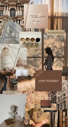 Aesthetic Beige Collage ~ Credits to Original Owner ♡~ Brown Wallpaper, Mood Wallpaper, Iphone Background Wallpaper, Aesthetic Pastel Wallpaper, Retro Wallpaper, Aesthetic Backgrounds, Aesthetic Wallpapers, Wallpaper Desktop, Wallpaper Quotes