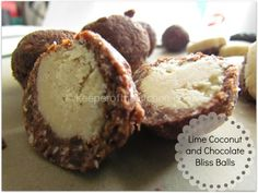 Raw Lime Coconut Chocolate Bliss Ball