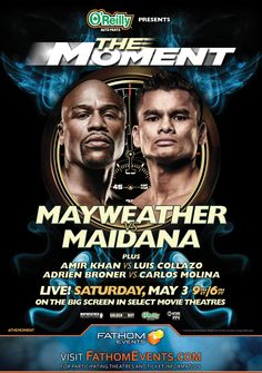 "Win live-event boxing tickets to ""The Moment: Mayweather vs. Maidana"" courtesy of HollywoodChicago.com! Win here: http://www.hollywoodchicago.com/links/goto/23895/8259/links_weblink"