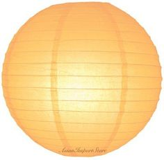 "36"" Papaya Even Ribbing Round Paper Lantern by Asian Import Store, Inc.. $26.00. Round paper lanterns with a even ribbing. Lantern is held open with a wire expander.  Dimensions: 36"" dia  (All lanterns sold without lighting, lighting options must be purchased separately)  Item cannot ship Internationally"