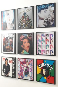Get creative with music décor for college apartments. These GLADSAX frames fit record sleeves.